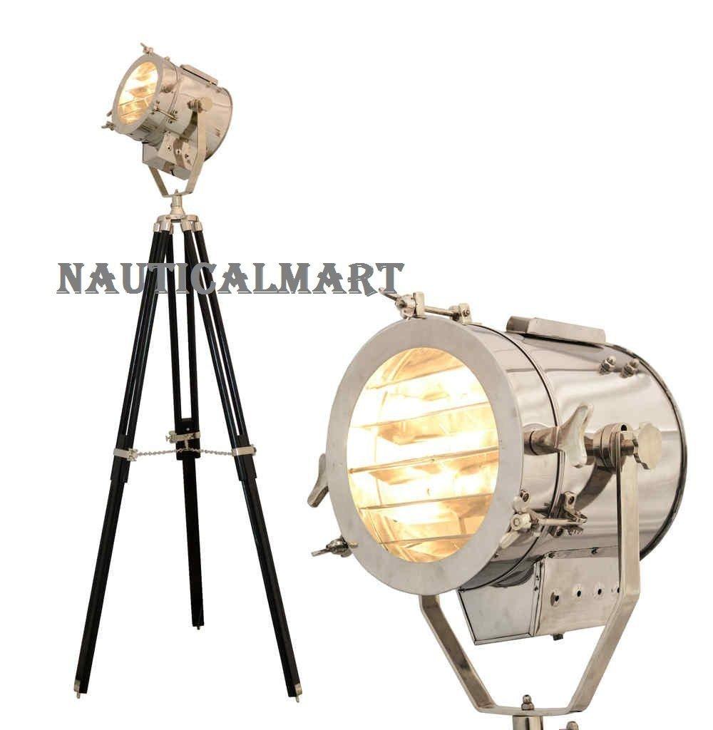 Nauticalmart Studio Searchlight Photography Tripod Floor Lamp Lighting Spotlight