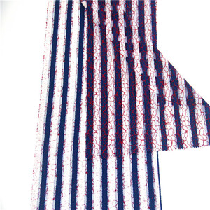 Red Blue White Max Colors, Cord Lace Fabric