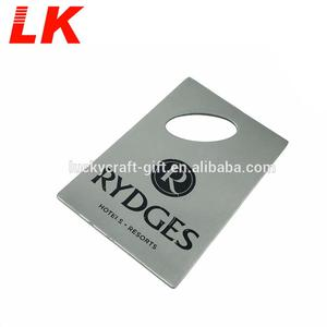 customized personalized logo zinc alloy bottle opener card