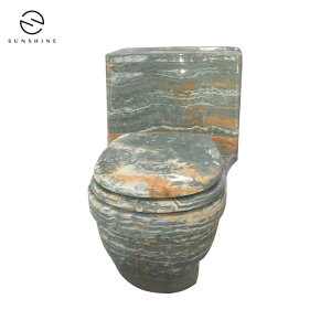 Custom Hand-made Blue Onyx Marble Stone Toilet