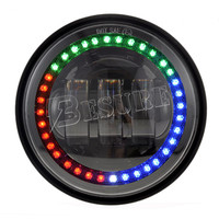 "Newest Car Accessories 4.5"" Inch 30W RGB Halo Ring LED Fog Light Passing Lamp for Harley"