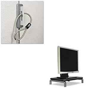 KITKMW60087KMW67700 - Value Kit - Kensington Partition Cable Anchor (KMW67700) and Kensington Monitor Stand with SmartFit System (KMW60087)