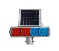 Traffic safety high visibility led blue red color solar warning light