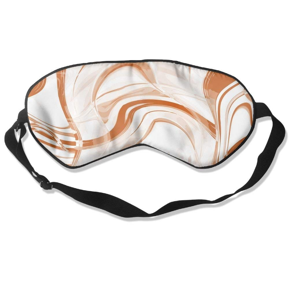Madge Kelley Eye Mask Adjustable-Strap Eyeshade Sleeping Mask Skin-Friendly Color Stripe Dark Night Sleep Travel