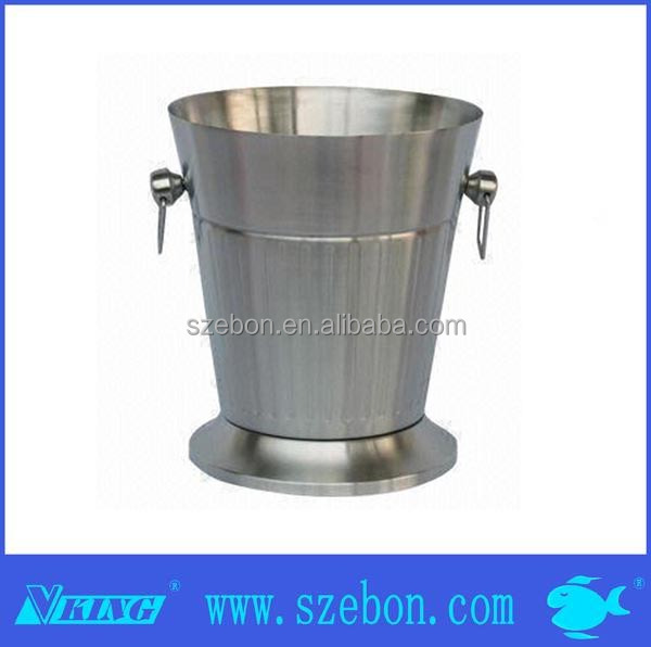 stainless steel foam ice bucket with standing