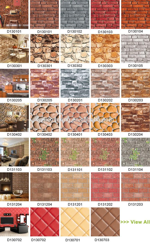 Goedkope imitatie vinyl bricks ontwerp muur papier groothandel ...