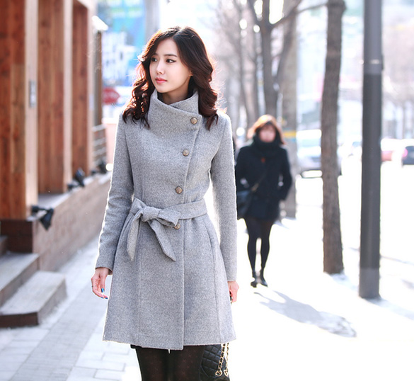 Top Quality 2015 Women Wool Coat Long Single Breasted