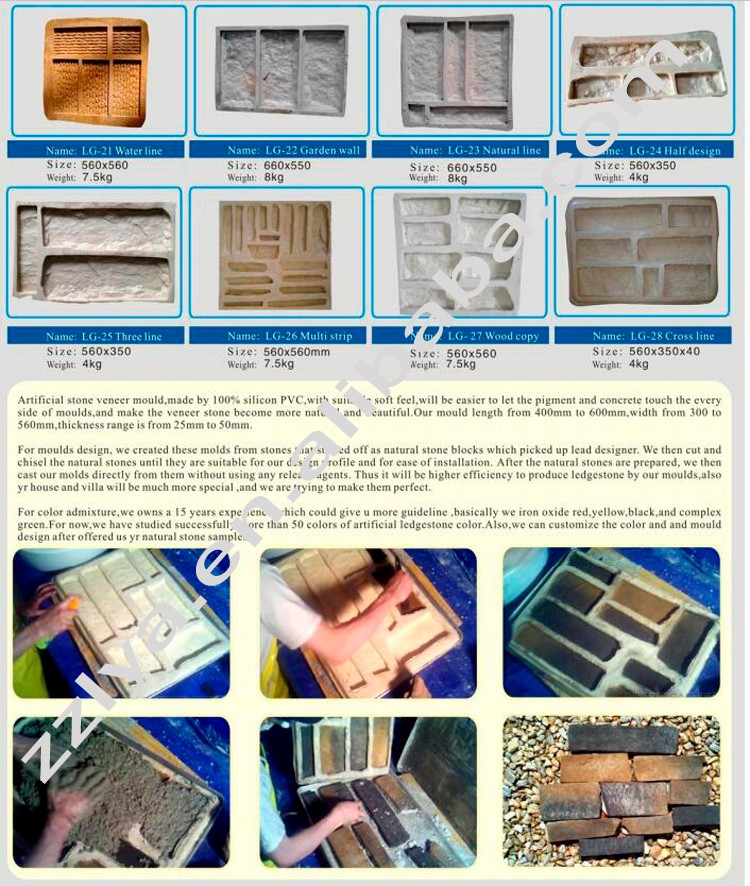 2016 Zhengzhou New Artificial Stone Silicone Molds For Artificial ...