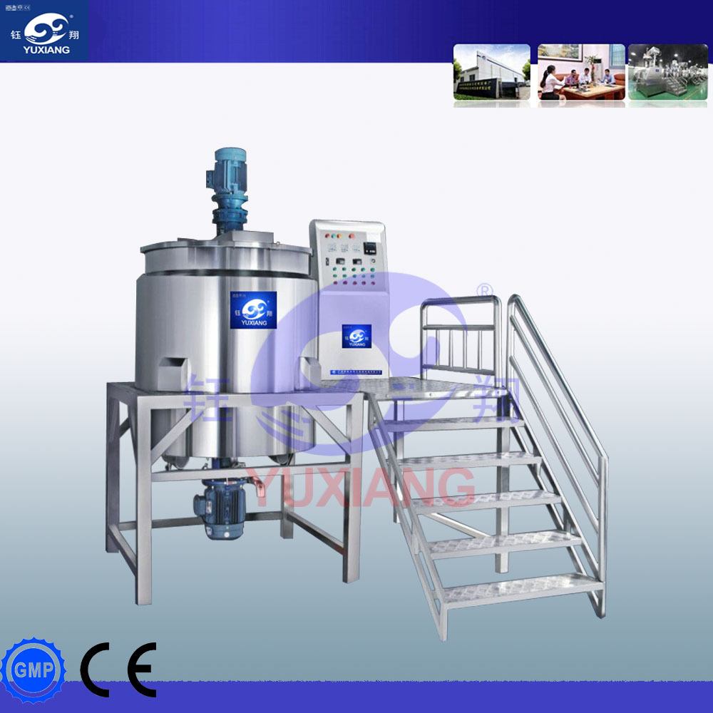 500L haute précision industrielle mélangeur de jus machine shampooing faisant la machine