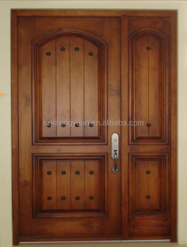 Double wooden main door design buy wooden main door for Indian main double door designs