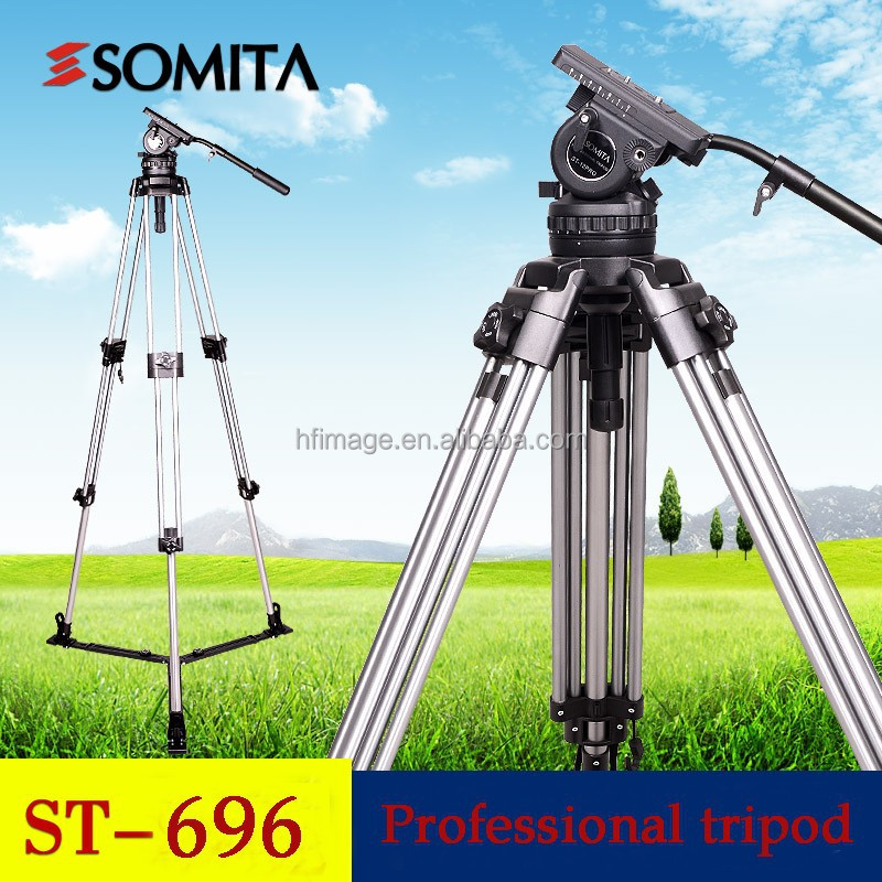 professional aluminim Video tripod fluid head panoramic camera tripod