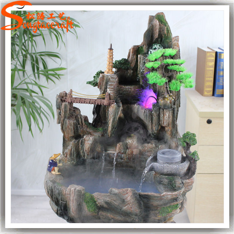 Made In China Fiberglass Rock Waterfall Artificial Rock Waterfall For Garden And Home Decor