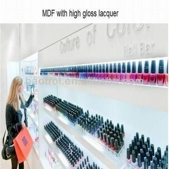 Luxury Retail Store Display Racks Nail Polish Store