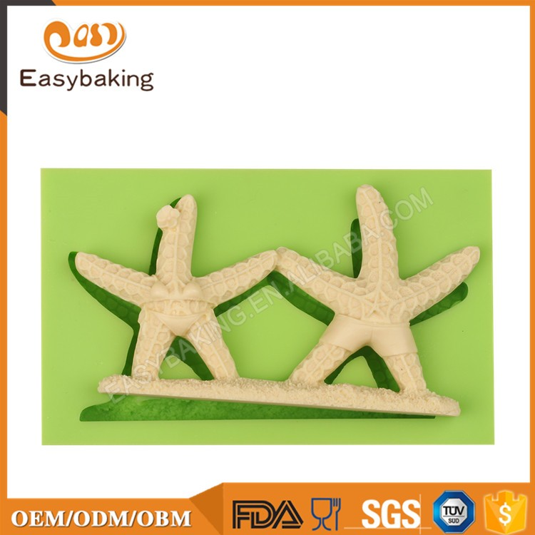 ES-0513 Animal Mould Lovers Starfish Fondant Silicone Molds for cake decorating