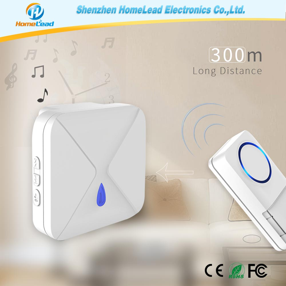 2017 Smart Design Plug-in Chime, Office Wirefree Door Bell for the Deaf with LED Flashlight