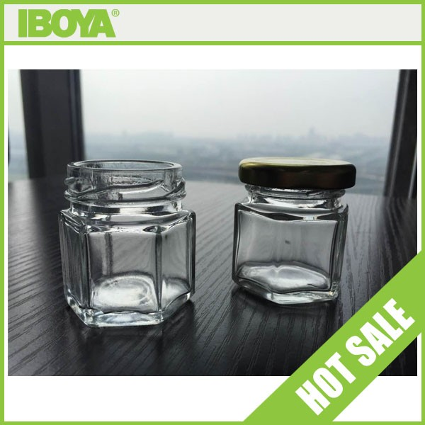 45ml small hexagonal glass jars with metal lids wholesale buy glass jars wholesale hexagonal. Black Bedroom Furniture Sets. Home Design Ideas