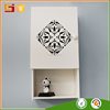 Small Wooden Crafts Furniture Bathroom Wall Corner Shelf with Two Drawers