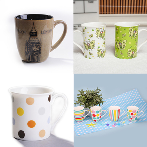 new products 2015 innovative products drum shape panda loves sublimation coffee cups/gifts ware coffee set/wholesale coffee mug