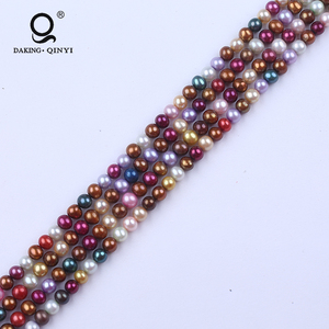 Wholesale 5-6mm Potato Natural Cultured Loose Real Freshwater Pearl Beads String for sale