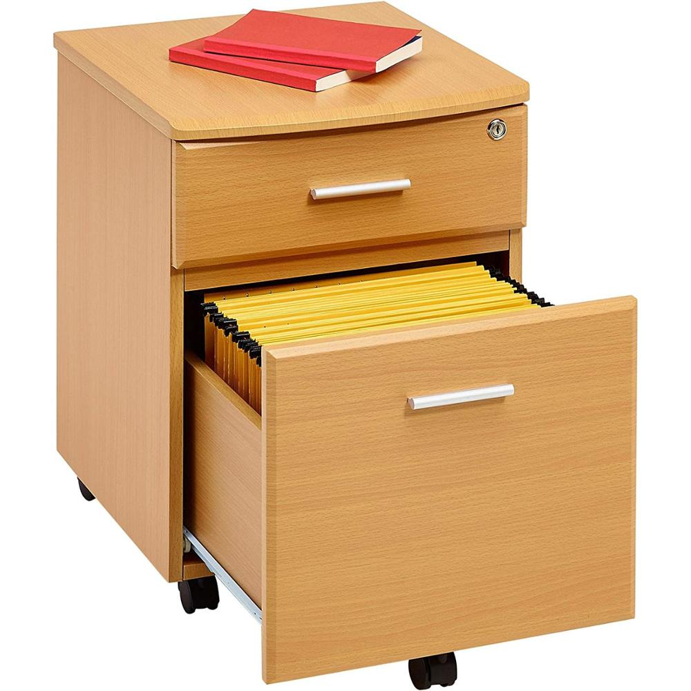 Sale Classical Office Movable Melamine 2 Drawer File Cabinet