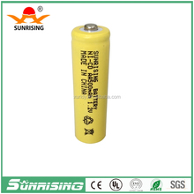 Button top 1.2v Nicd AA 500mah rechargeable battery