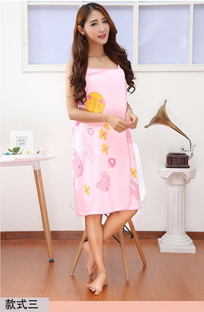 Wholesale custom Creative woman Wear kilt printed microfiber bath towel