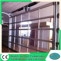 Clear glass insulated aluminum full view glass garage doors