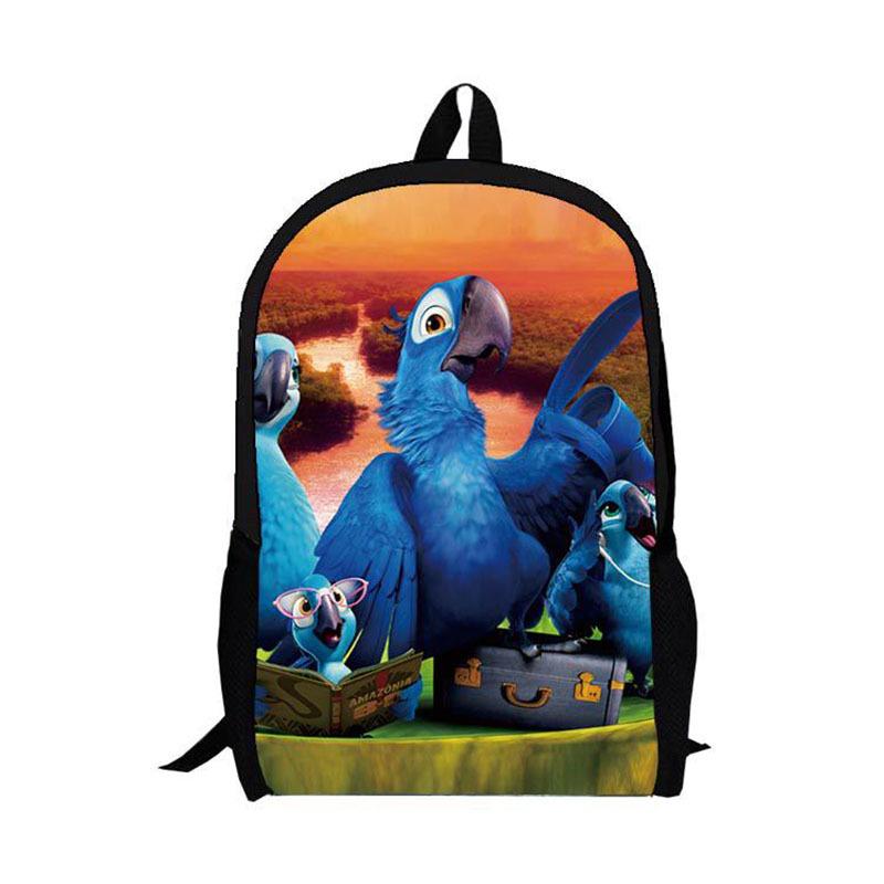 c9641a0475 16-inch Mochila School Kids Backpack Rio Printing Cartoon Children School  Bags For Teenagers D0826