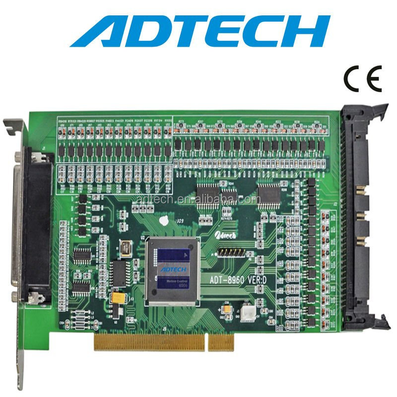 High performance & high-end 6 axis motion control card, ADT-8960 CNC Control Card, PCI BUS 6 Axis Motion Control Card