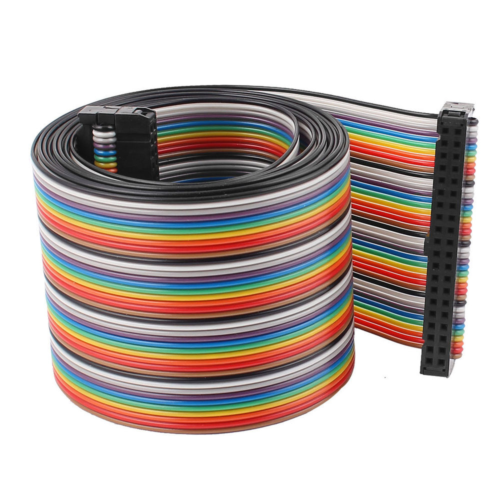 approved electrical 26 pin IDC connector flat ribbon cable 2.54mm pitch idc flat cable