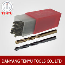 Danyang factory hss cobalt twist drill bits for stainless steel