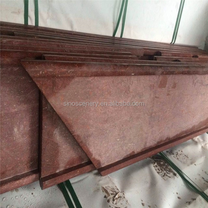 China Own Quarry Flamed Red Granite Tile Flooringfl On: Iron Red Granite Stair Price For Flamed Surface
