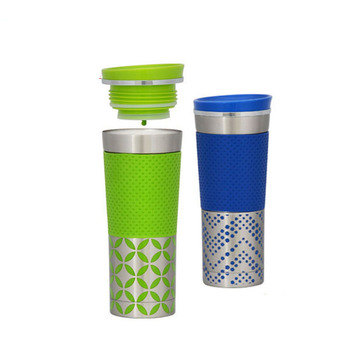 Insulated water bottle double wall vacuum tumblers life vacuum cup