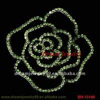 fashion decorative pin brooch flower shoes pin full rhinestone silver jewelry pin