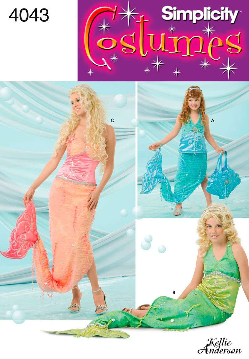 Simplicity Sewing Pattern 4043 Child, Girl and Misses Costumes, A (ALL SizeS)