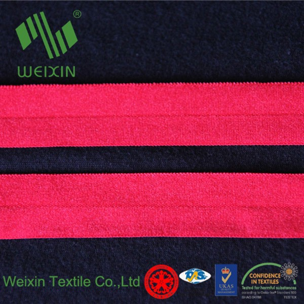 Wholesale custom nylon underwear/panties/garments fold over elastic webbing