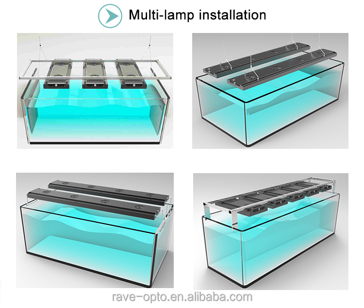 Mini 10inch 80w Aquarium Marine Led Light For Marine Coral Fish ...