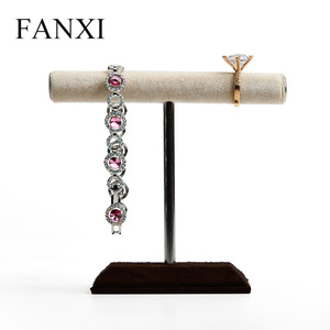 FANXI Fashion Color And Material Custom Jewelry Exhibition T Bar Bracelet Bangle Necklace Metal Jewelry Display Stand
