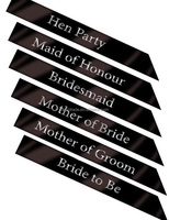 Wedding Decoration Black Hen Party Sash Bride To Be Bachelorette Bridesmaid Ladies Night Accessories