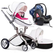 HOT MOM stroller 3 in 1 luxury baby triciclo infantil luxury leather baby stroller 3 in 1