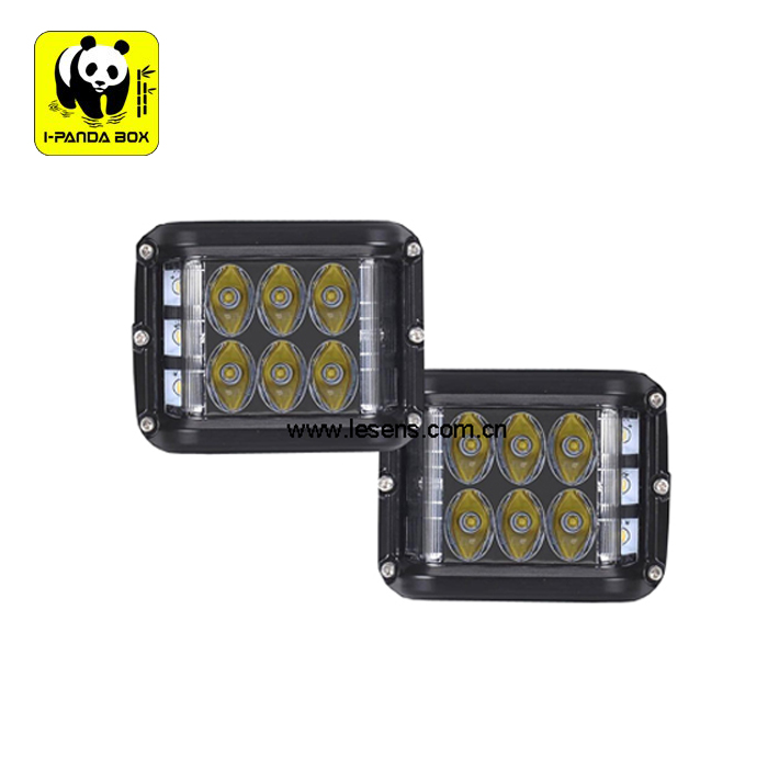 New Product 9 LEDs 45W LED Front Light for offroad, Dual Side Shooter Driving Light