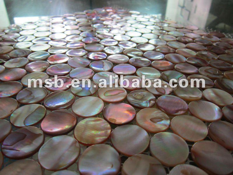 nat rliche schillernden kreis chinesische s wasser perlmutt muschel mosaik fliesen auf netz. Black Bedroom Furniture Sets. Home Design Ideas