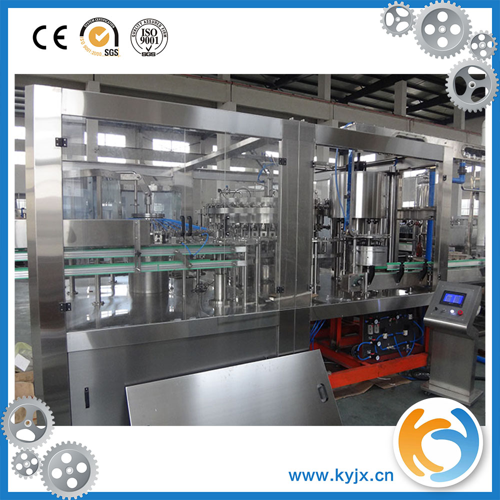 automatic glass bottle whisky beer vodka filling capping machine