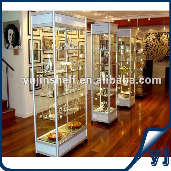 High Quality Shop Vitrine Showcase Dispay Case /full Vision Glass ...