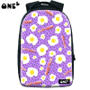 Uniqu egg pattern purple oem firm nylon hot sale women shoulder bag