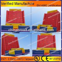 Durable climbing,inflatable wall, kids sports items with safety belt