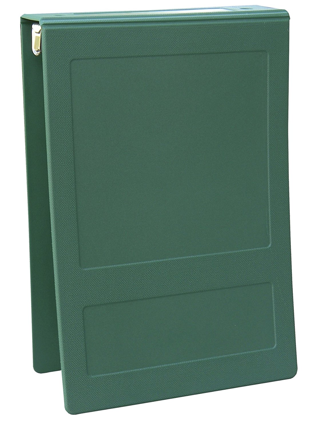 "Top Open 5 Ring Molded Binder Size: 1.5"", Color: Forest Green"