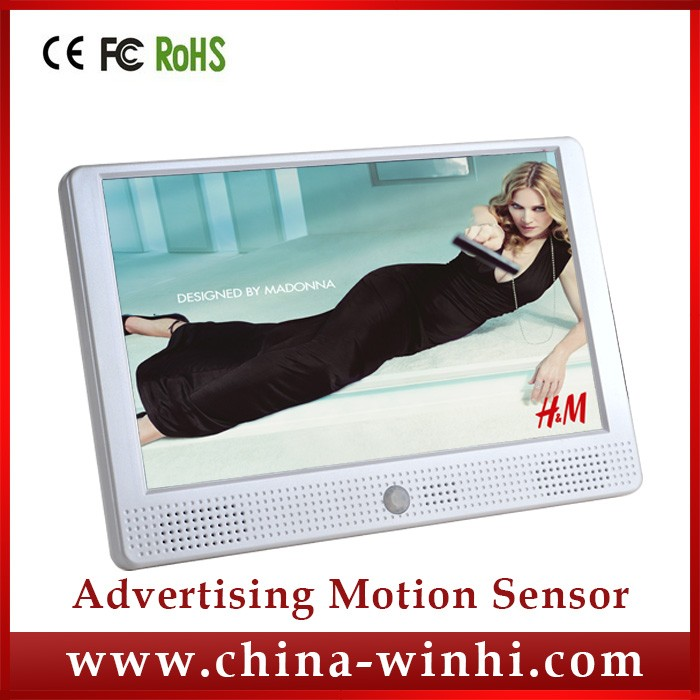 10 inch brand new motion sensor function accessories retail store mobile display remote advertising display
