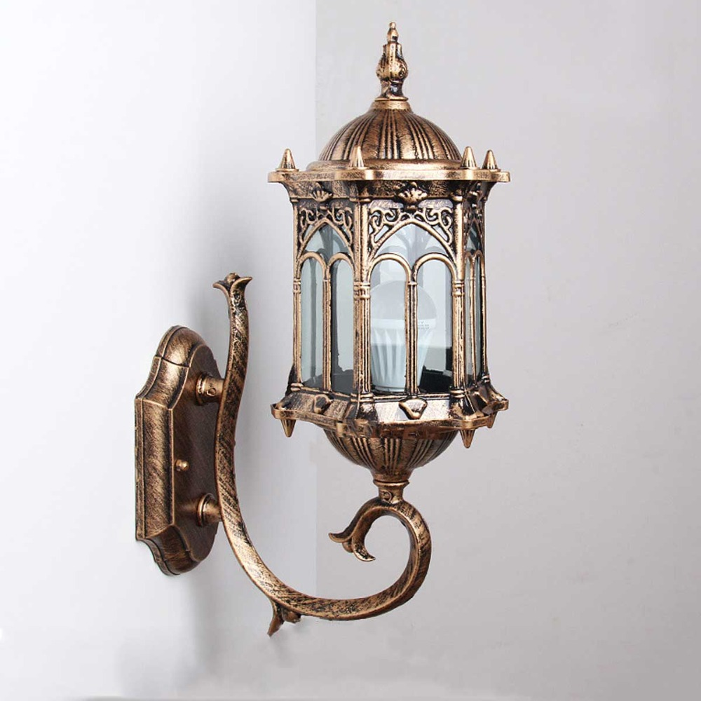1pc wall sconce homestia brand top grade retro exterior lamp antique bronze exterior wall. Black Bedroom Furniture Sets. Home Design Ideas