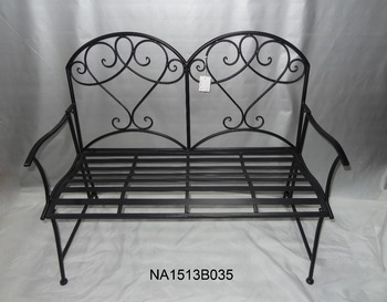Powder Coated Modern Style Outdoor Iron Metal Mosaic Bench Buy
